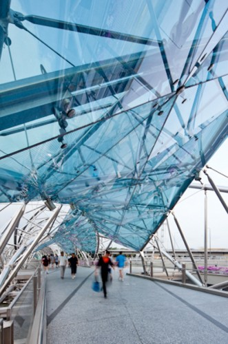 Helix Bridge - Marina Bay; Singapore <br />