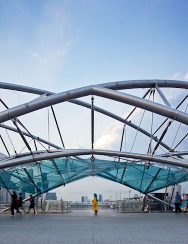 Helix Bridge - Marina Bay; Singapore <br /> Cox Rayner Architects with Arup & Architects 61